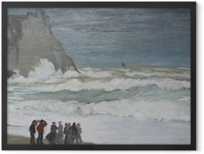 Gerahmtes Poster Claude Monet - Stürmisches Meer bei Étretat - Reproduktion