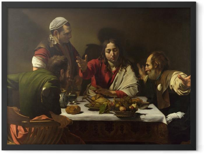 Plakat w ramie Caravaggio - Wieczerza w Emaus - Reproductions