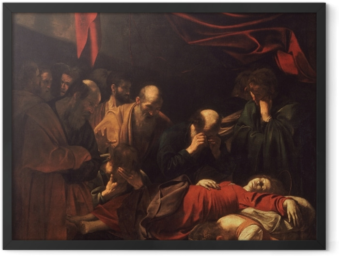 Plakat w ramie Caravaggio - Śmierć Marii - Reproductions