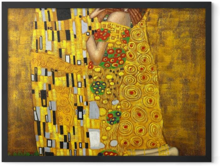 Plakat w ramie Gustav Klimt - Pocałunek - Reprodukcje