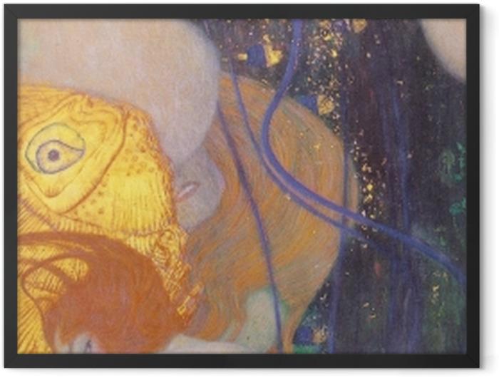 Gerahmtes Poster Gustav Klimt - Goldfische - Reproduktion
