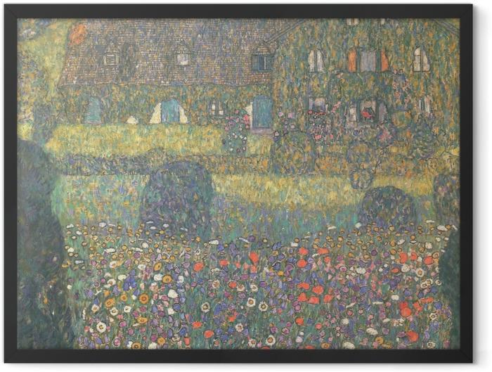 Poster en cadre Gustav Klimt - Maison de campagne près de l'Attersee - Reproductions