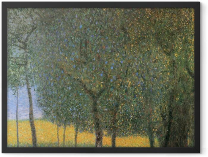 Poster en cadre Gustav Klimt - Arbres Fruitiers - Reproductions
