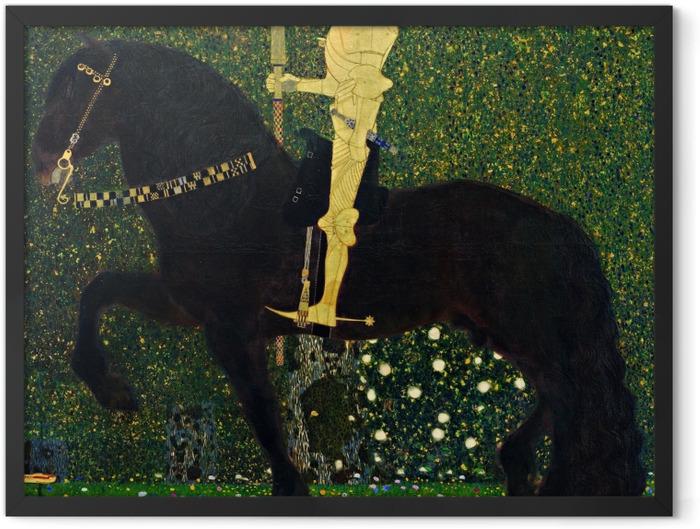 Poster en cadre Gustav Klimt - La vie est une bataille. Le chevalier d'or - Reproductions