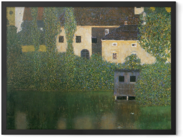 Gerahmtes Poster Gustav Klimt - Schloss Kammer am Attersee - Reproduktion