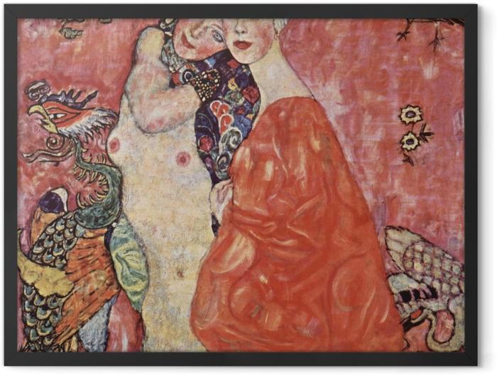 Plakat w ramie Gustav Klimt - Przyjaciółki - Reprodukcje