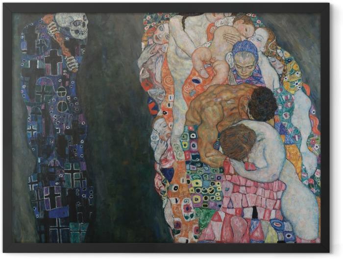 Plakat w ramie Gustav Klimt - Życie i śmierć - Reprodukcje