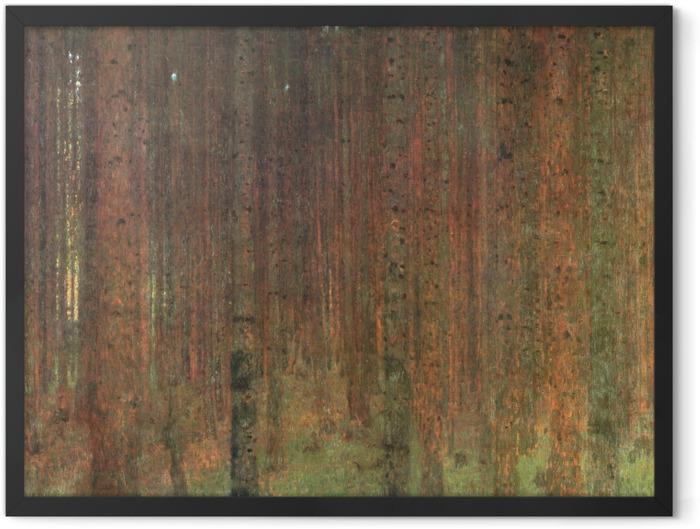 Gerahmtes Poster Gustav Klimt - Kiefernwald - Reproduktion