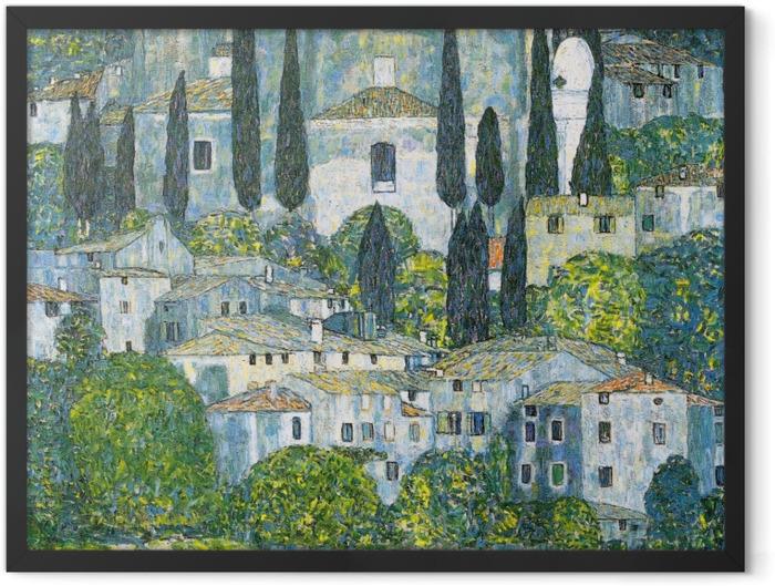 Poster en cadre Gustav Klimt - Eglise de Cassone - Reproductions