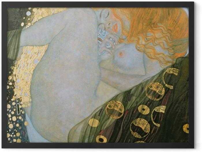 Gerahmtes Poster Gustav Klimt - Danae - Reproduktion