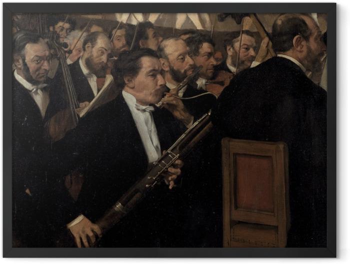 Poster en cadre Edgar Degas - L'orchestre de l'Opéra - Reproductions
