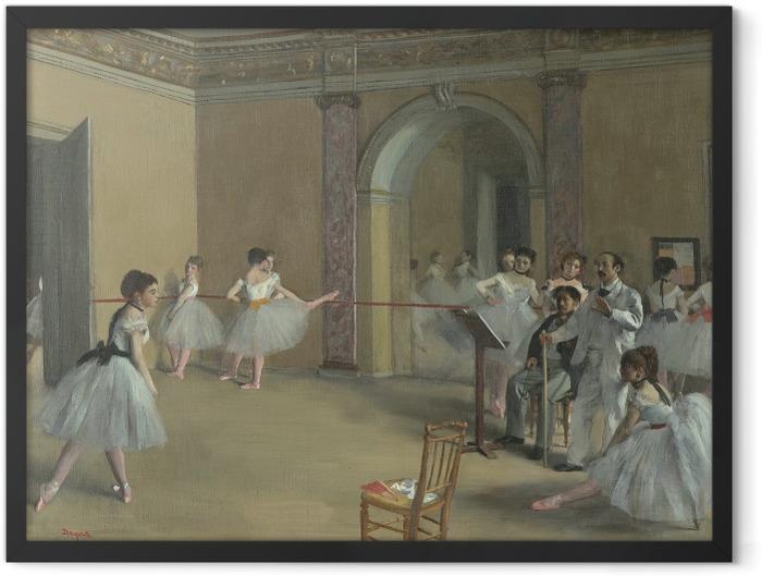 Poster en cadre Edgar Degas - Le Foyer de la danse à l'Opéra de la rue Le Peletier - Reproductions