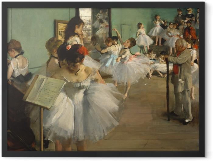 Gerahmtes Poster Edgar Degas - Der Tanzunterricht - Reproduktion