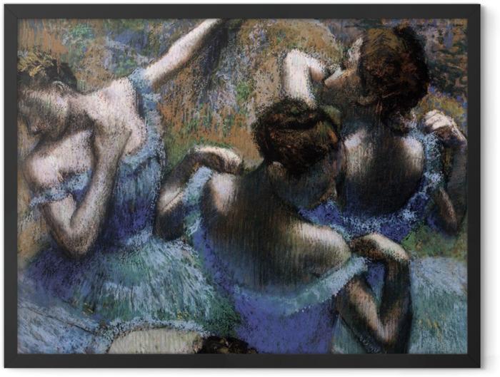 Poster en cadre Edgar Degas - Les danseuses bleues - Reproductions