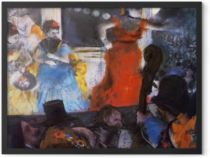 Plakat w ramie Edgar Degas - Koncert w kawiarni Aux Ambassadeurs - Reprodukcje