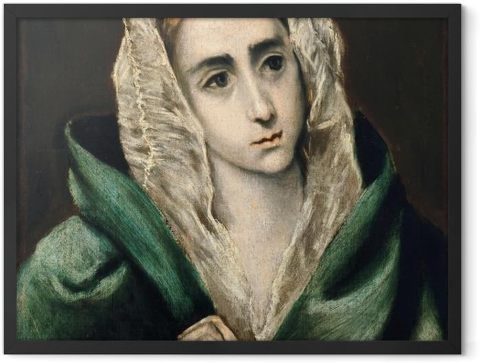 Gerahmtes Poster El Greco - Mater Dolorosa - Reproduktion