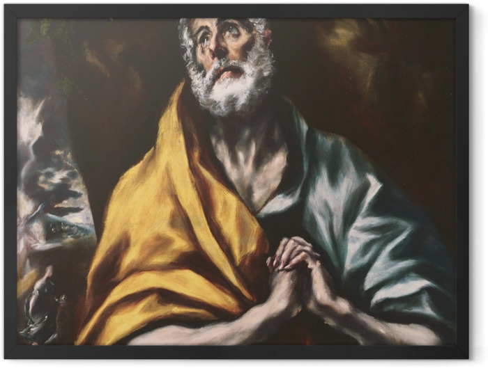 Poster en cadre Le Greco - Le Repenti Peter - Reproductions