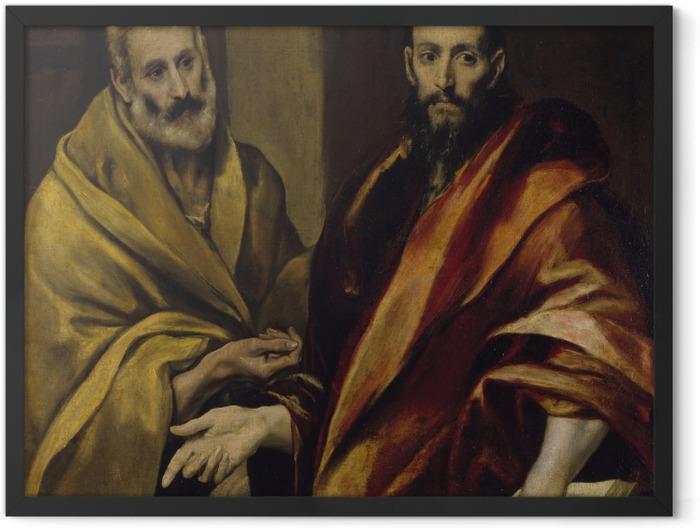 Plakat w ramie El Greco - Św. Piotr i św. Paweł - Reprodukcje