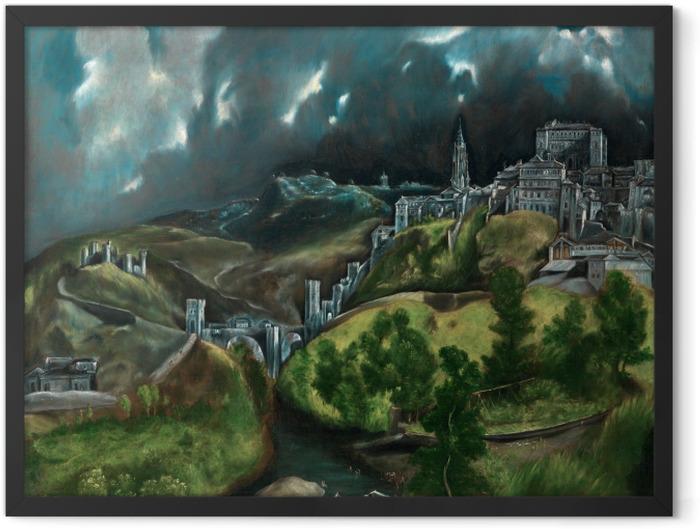 Plakat w ramie El Greco - Burza nad Toledo - Reprodukcje