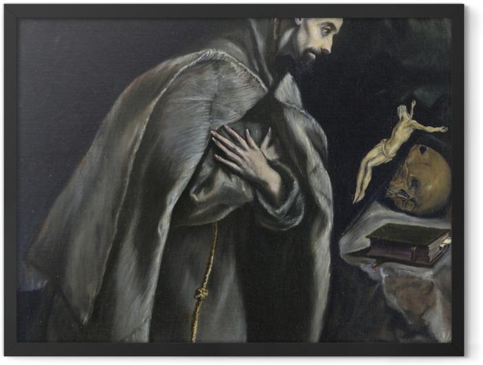 Plakat w ramie El Greco - Ekstaza św. Franciszka - Reprodukcje