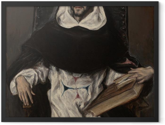 Plakat w ramie El Greco - Portret ojca Hortensia - Reprodukcje