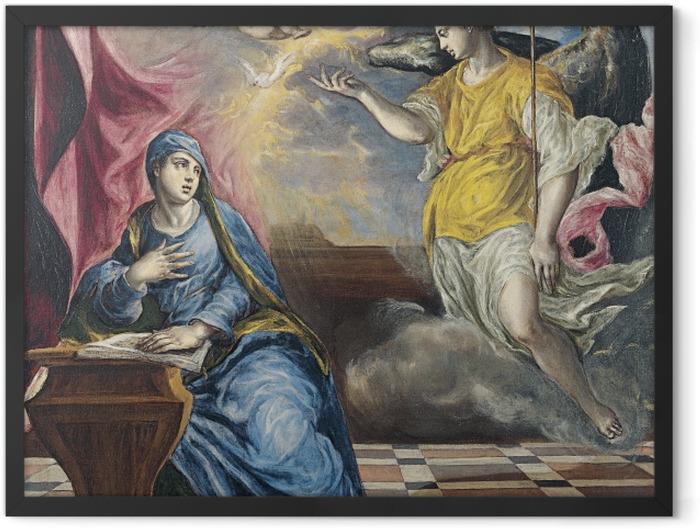 Plakat w ramie El Greco - Zwiastowanie - Reprodukcje