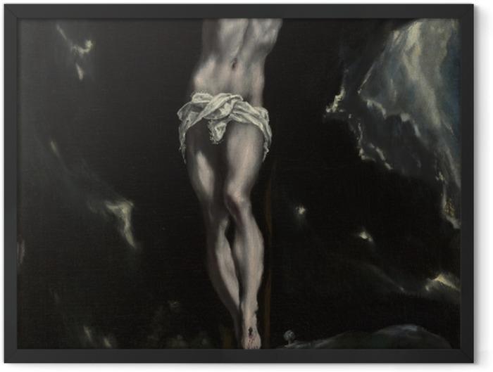 Plakat w ramie El Greco - Ukrzyżowanie - Reprodukcje