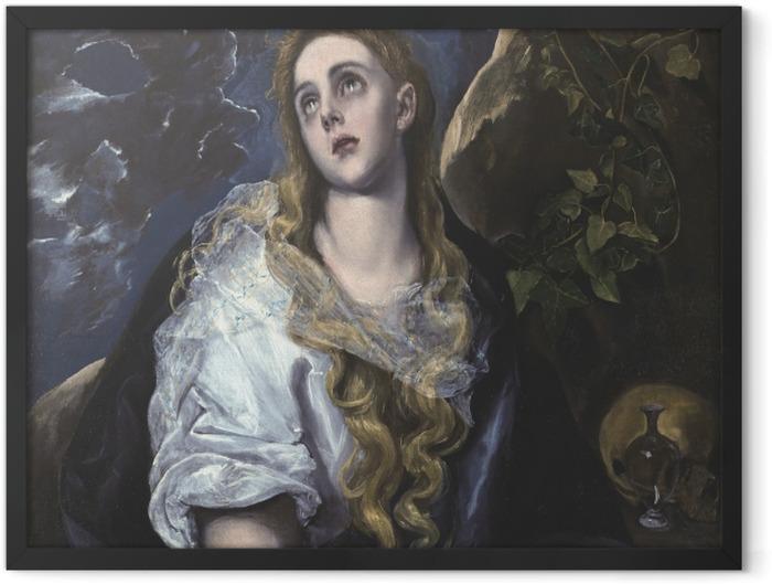 Poster en cadre Le Greco - Marie Madeleine pénitente - Reproductions