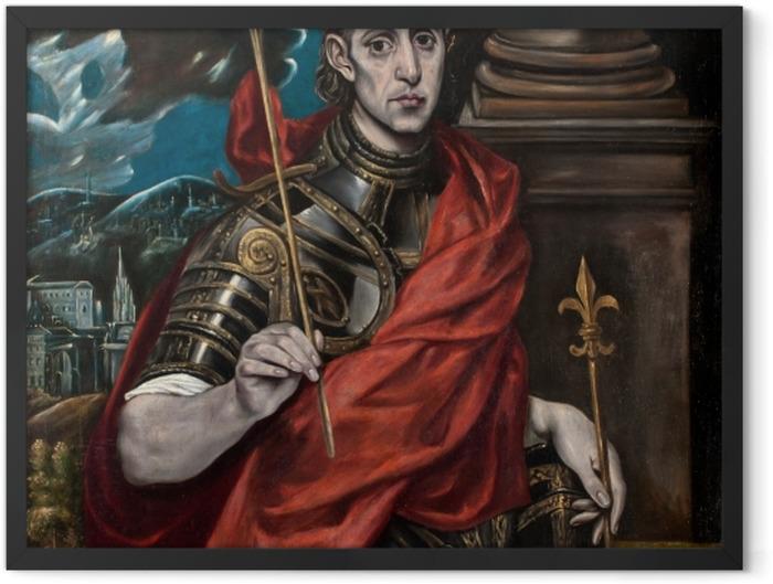 Plakat w ramie El Greco - Św. Ludwik król Francji - Reprodukcje