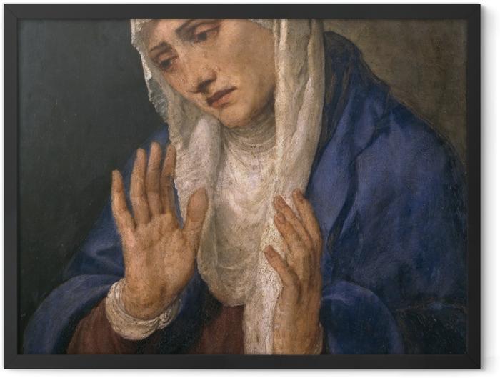 Gerahmtes Poster Tizian - Mater Dolorosa - Reproduktion