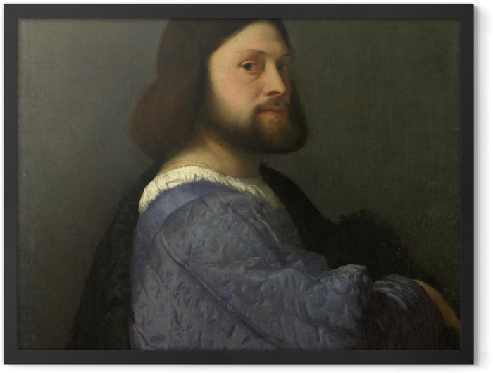 Plakat w ramie Tycjan - Portret mężczyzny - Reprodukcje