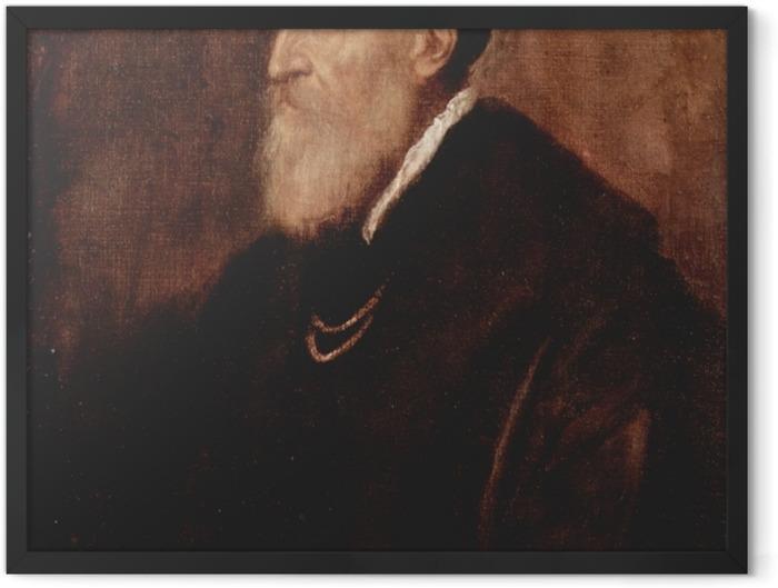 Plakat w ramie Tycjan - Autoportret - Reprodukcje
