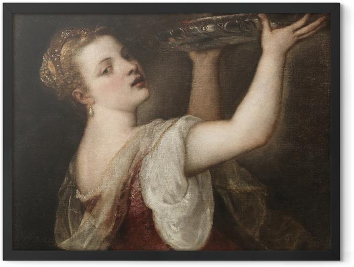 Plakat w ramie Tycjan - Salome z głową Jana Chrzciciela - Reprodukcje