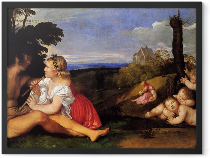 Gerahmtes Poster Tizian - Drei Lebensalter - Reproduktion
