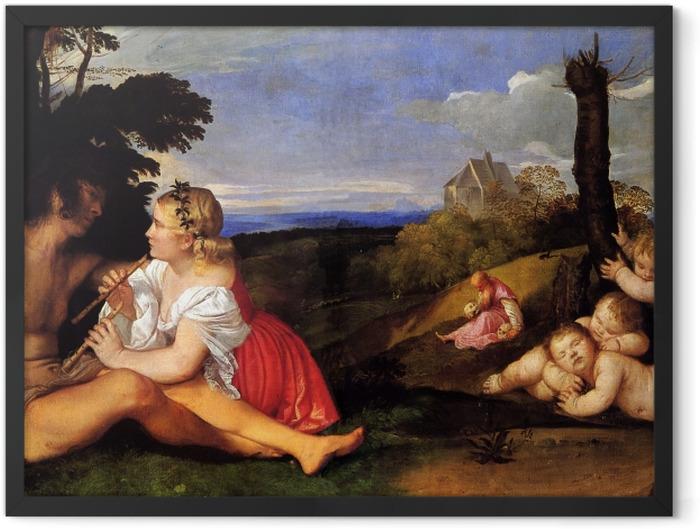 Plakat w ramie Tycjan - Trzy okresy życia - Reprodukcje