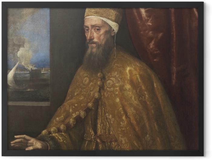 Plakat w ramie Tycjan - Portret doży Francesco Veniera - Reprodukcje