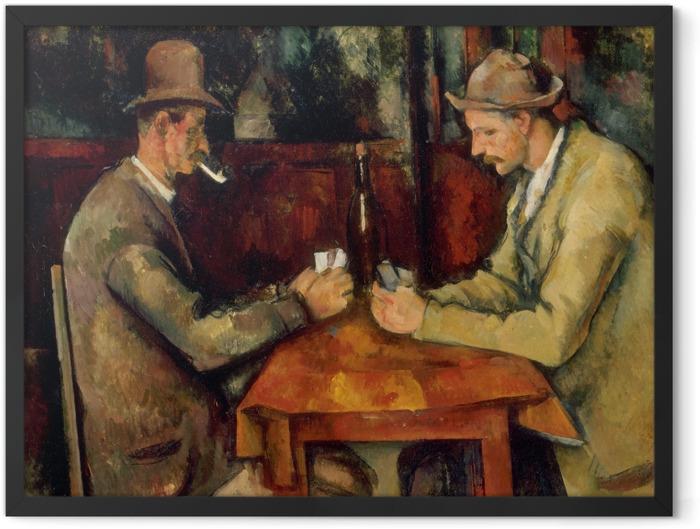 Poster en cadre Paul Cézanne - Les Joueurs de cartes - Reproductions