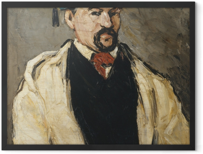 Plakat w ramie Paul Cézanne - Portret mężczyzny w niebieskiej czapce - Reprodukcje