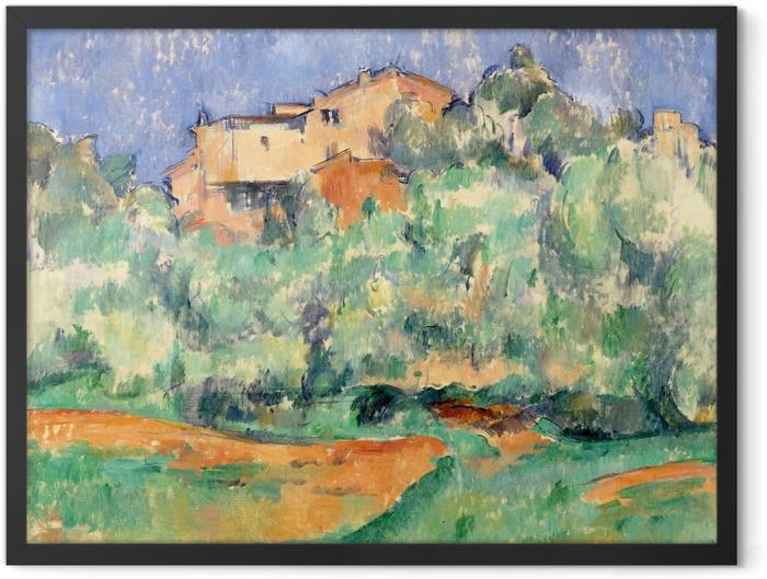 Poster en cadre Paul Cézanne - La Maison de Bellevue - Reproductions