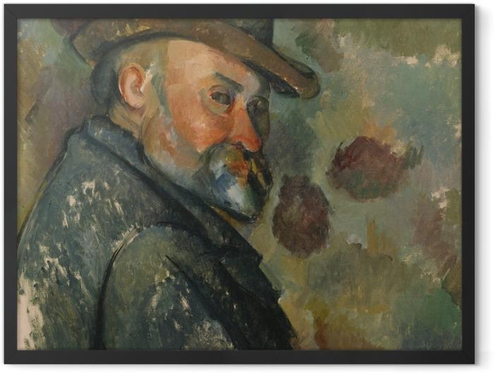 Gerahmtes Poster Paul Cézanne - Selbstporträt - Reproduktion