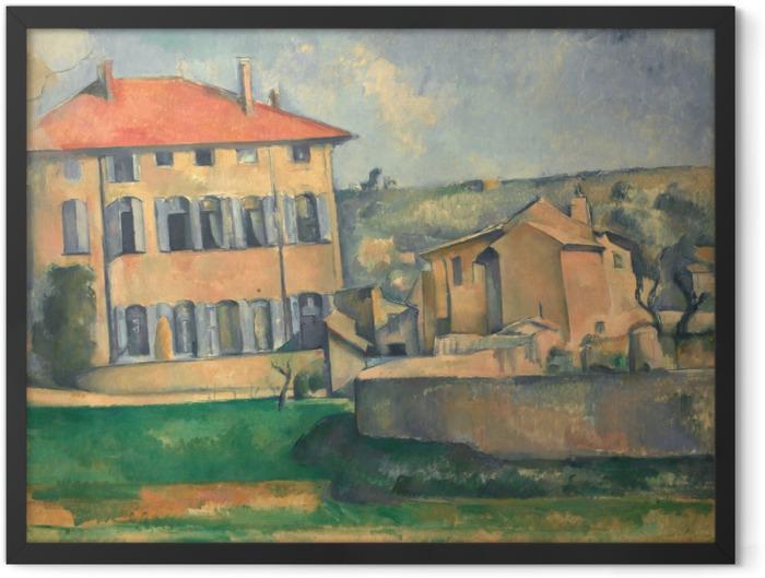 Gerahmtes Poster Paul Cézanne - Das Landgut Jas de Bouffan - Reproduktion