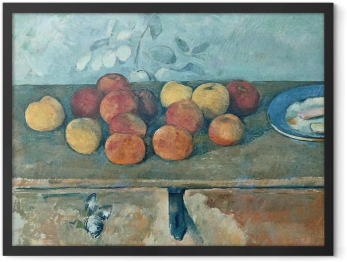 Poster en cadre Paul Cézanne - Pommes et biscuits - Reproductions