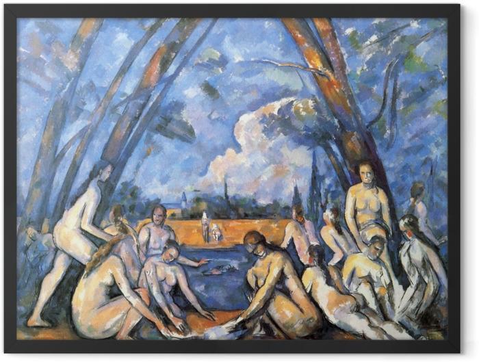 Plakat w ramie Paul Cézanne - Kąpiące się - Reprodukcje