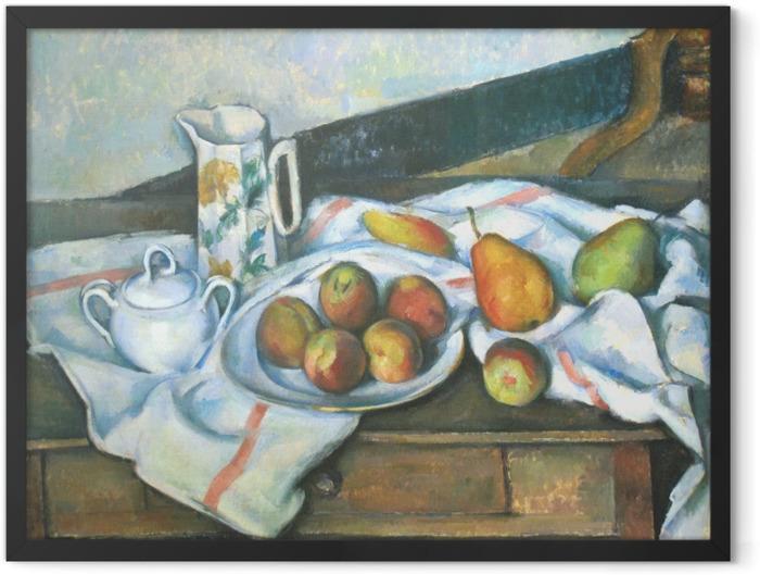 Plakat w ramie Paul Cézanne - Martwa natura z brzoskwiniami i gruszkami - Reprodukcje
