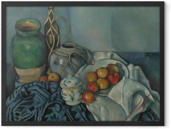 Poster en cadre Paul Cézanne - Nature morte aux pommes - Reproductions