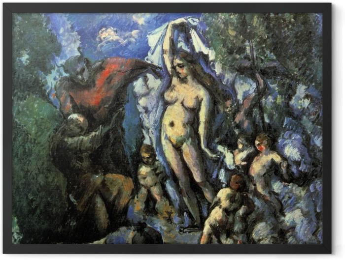 Plakat w ramie Paul Cézanne - Kuszenie św. Antoniego - Reprodukcje