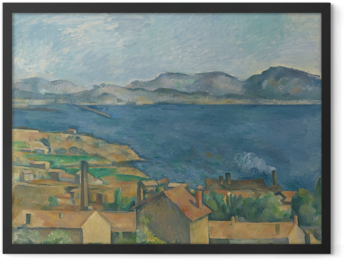 Poster en cadre Paul Cézanne - Le golfe de Marseille vu de L'Estaque - Reproductions