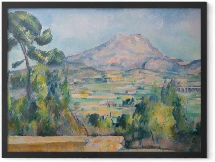 Poster en cadre Paul Cézanne - Mont Sainte-Victoire - Reproductions