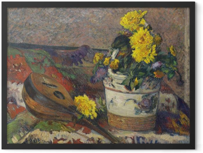 Gerahmtes Poster Paul Gauguin - Stillleben mit Mandoline - Reproduktion