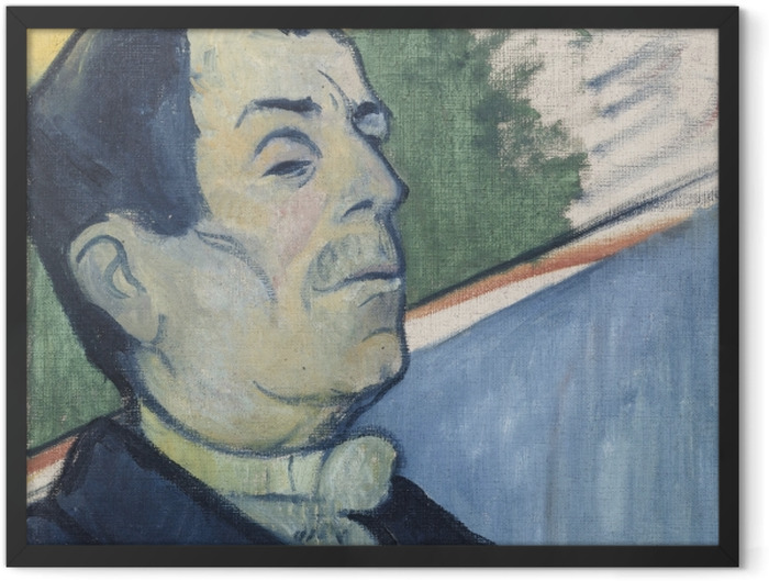 Gerahmtes Poster Paul Gauguin - Herr Ginoux - Reproduktion